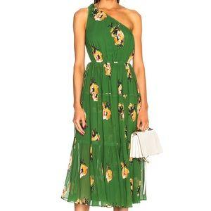 A.L.C. Silk Floral One Shoulder Dress
